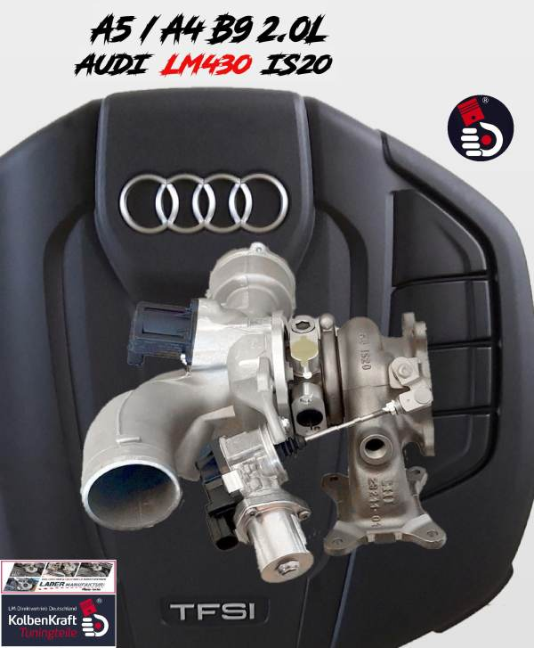 Audi A4 B9 A5 B9 Hybrid LM430 IS20 Turbo Upgrade Turbocharger KolbenKraft Tuning