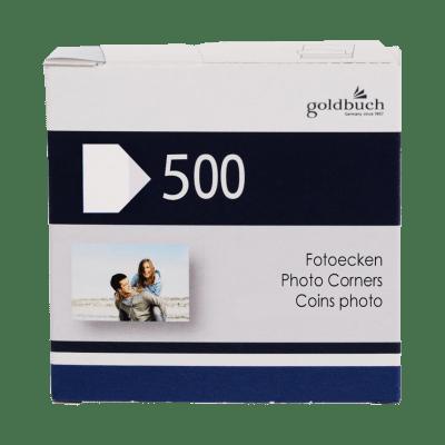 500 stk. fotohjørner (svarende til 125 stk. billeder), der er lette at tilgå og samlet i en lille pakke (GB83094) | Koldsø Fotografi Webshop