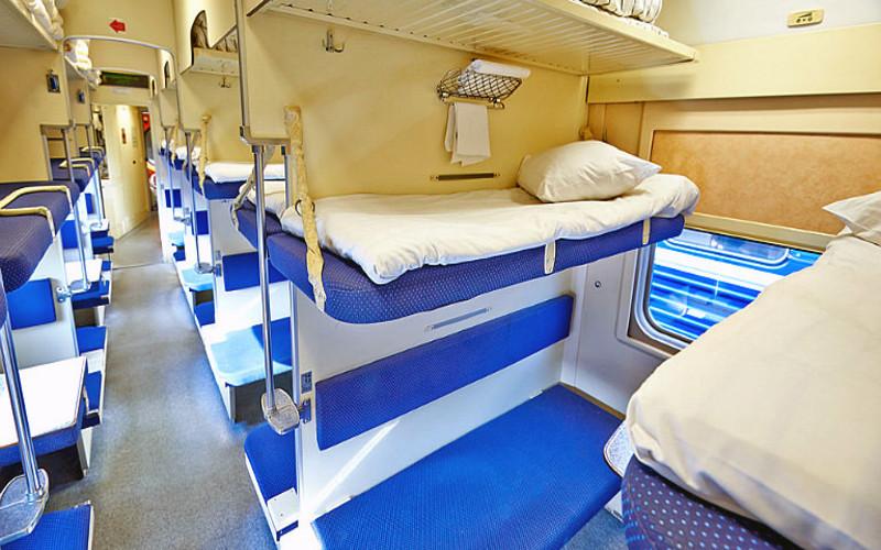 3 klasa w pociągu Rossija z Moskwy do Władywostoku