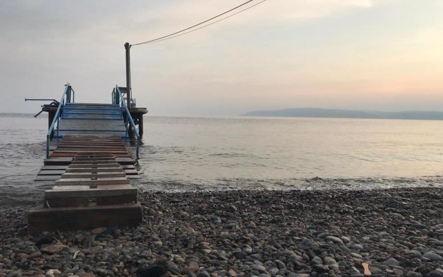 Jezioro Bajkał - zachód słońca
