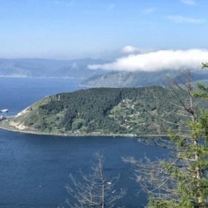 Widok na Port Bajkał z Piku Czerskiego