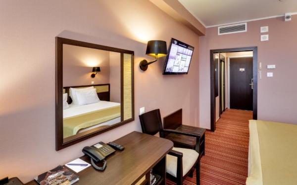 Wejście do pokoju w hotelu Izmailovo w Moskwie