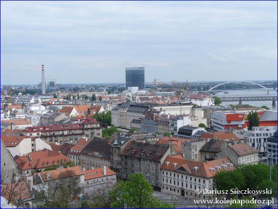Bratysława - panorama centrum miasta