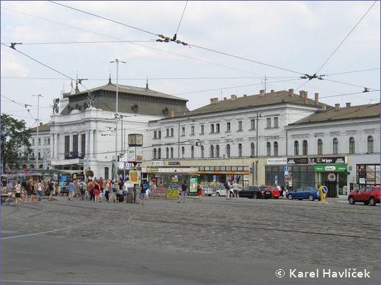 Brno hlavní nádraží - widok od strony deptaka
