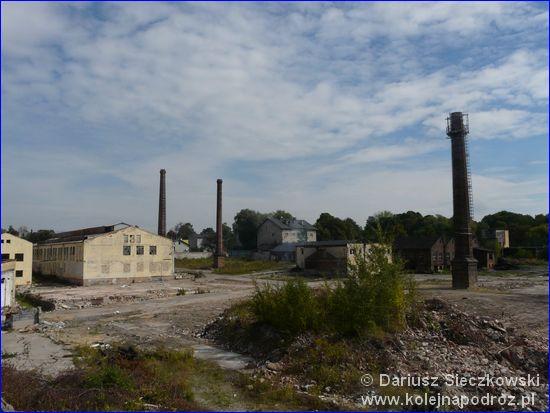 Dąbrowa Górnicza Ząbkowice - wyburzane zakłady w pobliżu dworca