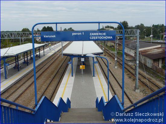 Łazy - peron 1