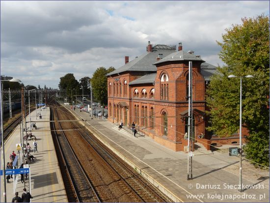 Kluczbork - dworzec kolejowy z kładki