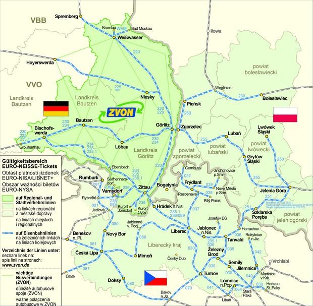 EURO NYSA mapa
