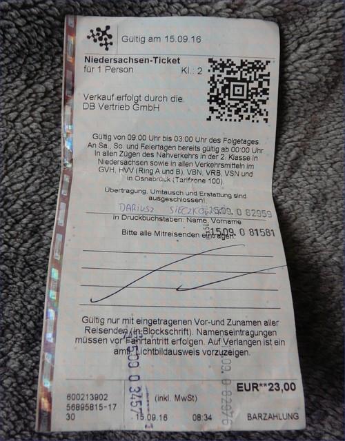 Niedersachsen-Ticket