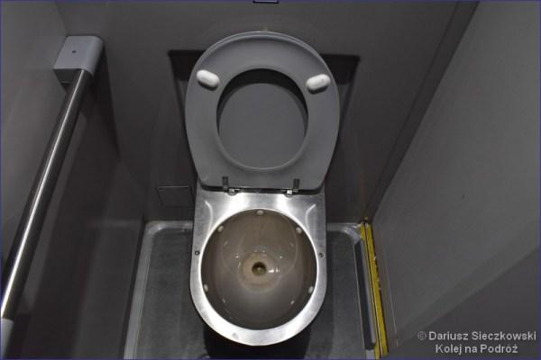Toaleta w pociągu DART