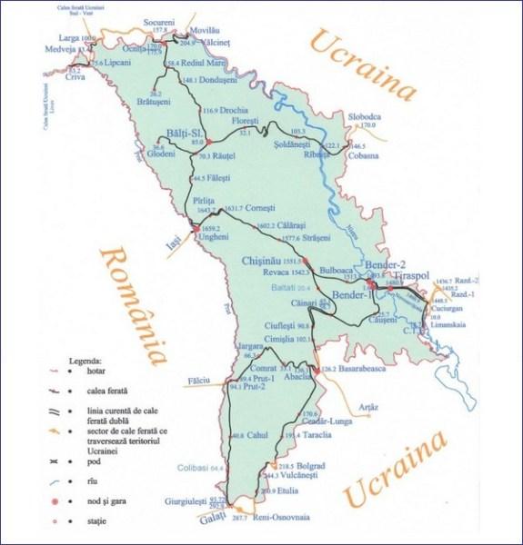 Mołdawia mapa kolejowa