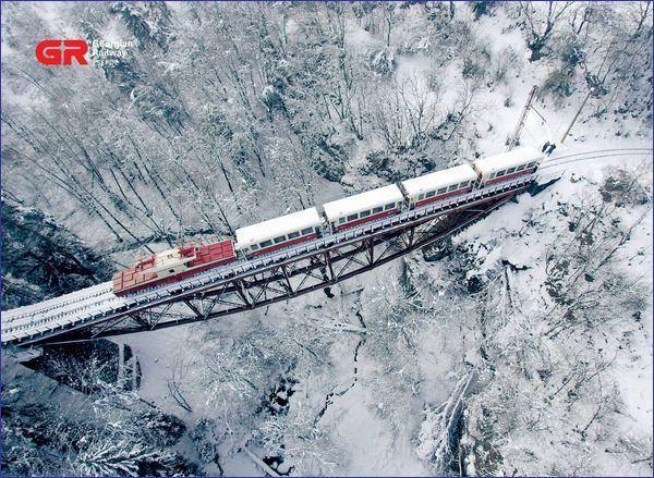 Borjomi Bakuriami pociąg