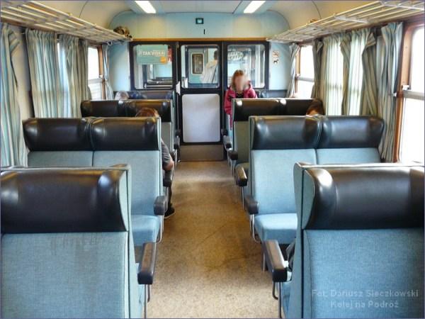 Wnętrze duńskiego pociągu