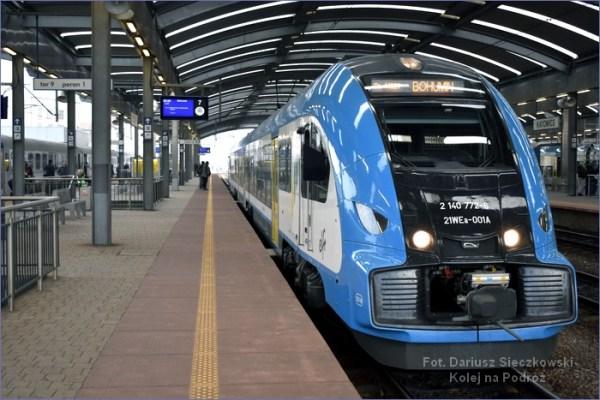 Pociągiem do Czech - pociąg Katowice - Bogumin