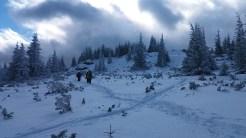 Itt már szinte havazott. Szerencsére abban is volt részünk