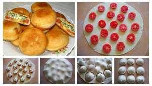 Пиріжки з сиром, помідорами та зеленню: покроковий рецепт приготування