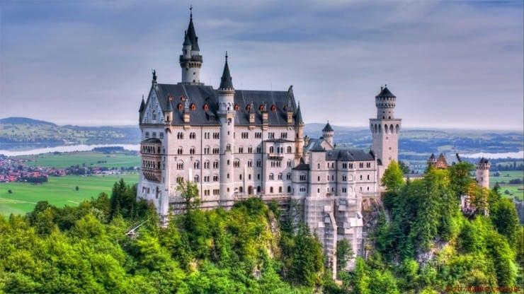 Замок Нойшванштайн, Хоеншвангау, Баварія, Німеччина)