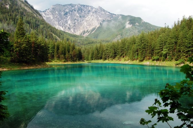 Зелене озеро (Grüner See) в Австрії