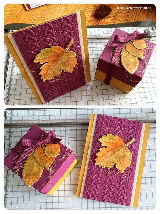 Осінні листівки своїми руками (60 цікавих ідей з фото) (17)