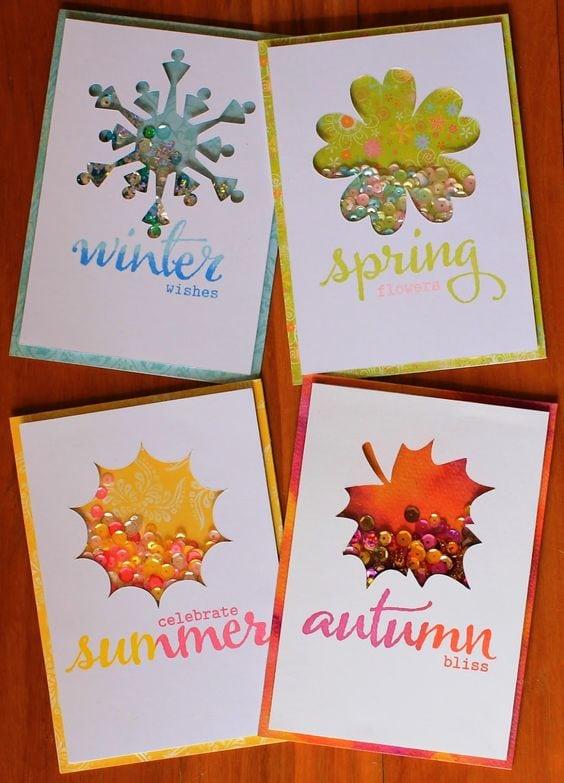 Осінні листівки своїми руками (60 цікавих ідей з фото) (37)