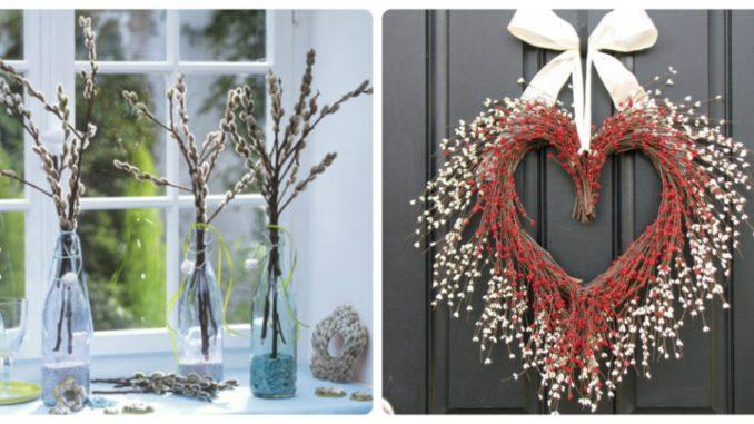Вербна неділя: оригінальні варіанти декору із вербових гілок (40 фото)