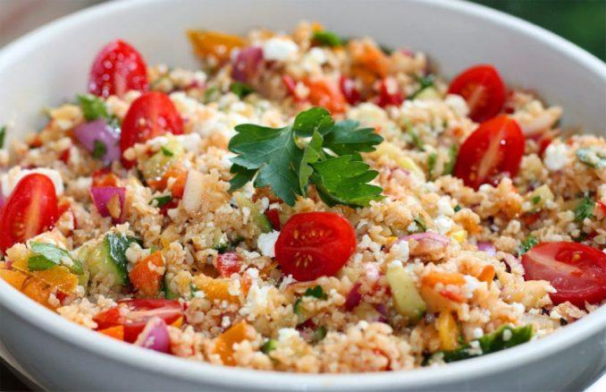 Овочевий салат з булгуром: покроковий рецепт