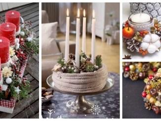 Зимові композиції зі свічками, які можна зробити власноруч — 40 фото-ідей