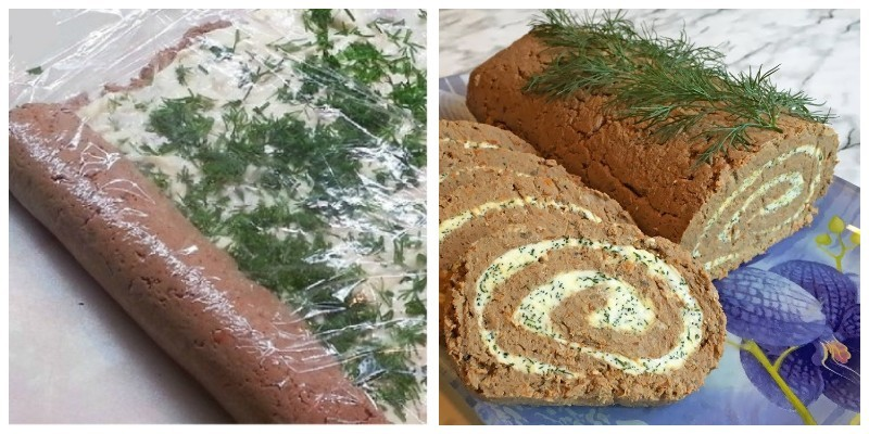Печінковий рулет з начинкою — смачна закуска до святкового столу
