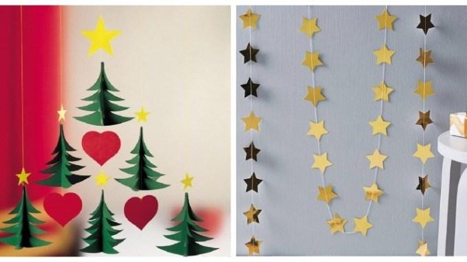 Паперові гірлянди до Нового року своїми руками: 45 фото-ідей
