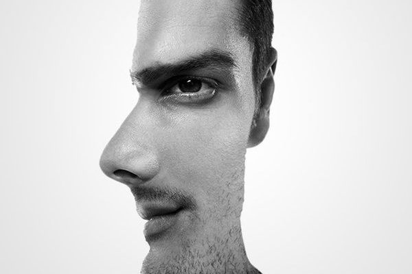 Що ви бачите на картинці – профіль чоловіка чи фронтальне зображення обличчя?