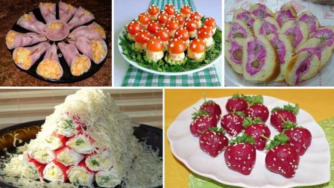 5 простих і незвичайних закусок, які прикрасять святковий стіл