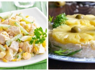 Салати з ананасами — 6 смачних рецептів
