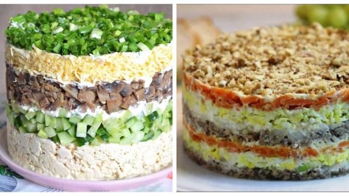 Багатошарові салати — найкращі рецепти з фото