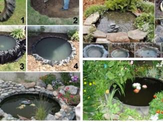 Як власноруч зробити невеликий ставок із шини для саду