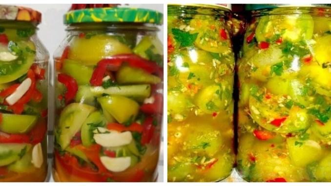 Зелені помідори на зиму — смачний рецепт без стерилізації