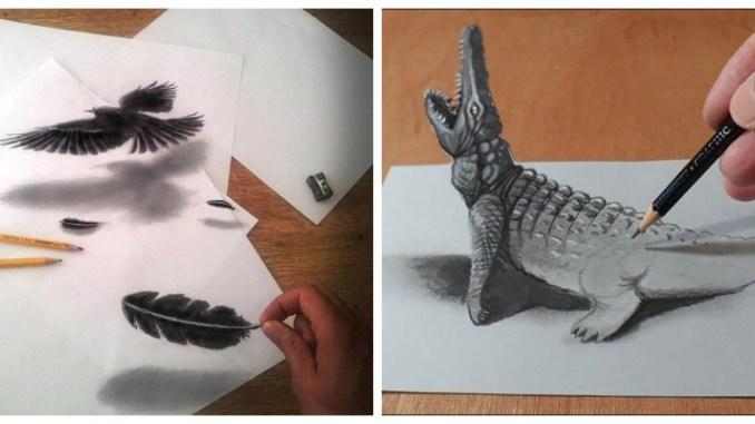 35 неймовірних 3D-малюнків олівцем