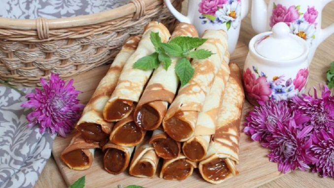 Вафельні трубочки на сковороді — ніжні та хрусткі. Покроковий рецепт з фото