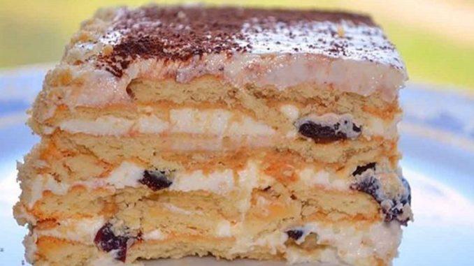 Торт з чорносливом без випічки. Готується цей десерт дуже просто!