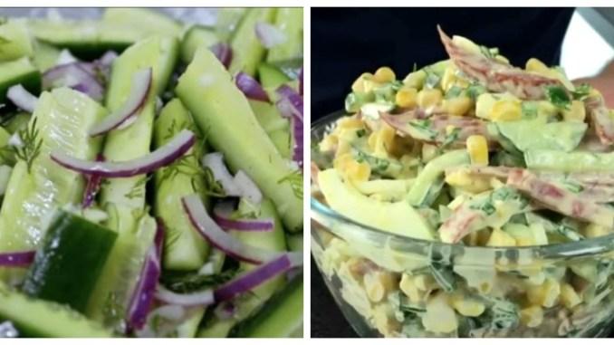Салати з свіжих огірків — 10 простих і оригінальних рецептів
