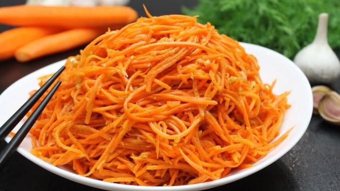 Морква по-корейськи за 5 хвилин: ідеальні пропорції спецій, неймовірний смак