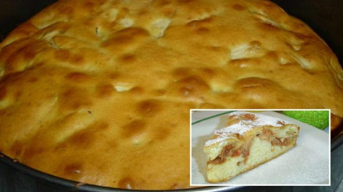 Яблучний пиріг на кефірі. Пиріг з яблуками виходить повітряним і легким, ароматним і смачним.