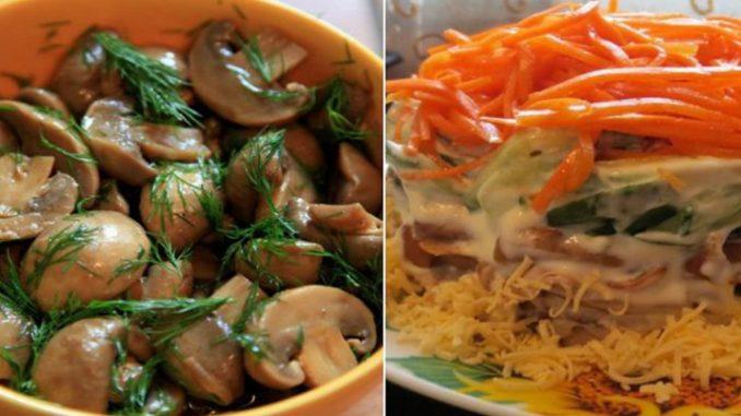 5 святкових салатів з шампіньйонами. Кожна страва тішить око й неймовірно смакує!