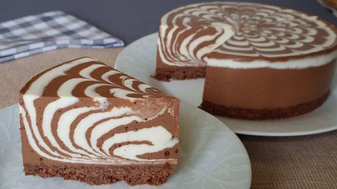 """Насолода вигляду та смаку — торт """"Зебра"""" без випічки! Виходить ніжним з насиченим ванільно-шоколадним смаком!"""