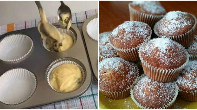 Пухкі та дуже смачні домашні кекси. Рідні будуть задоволені!