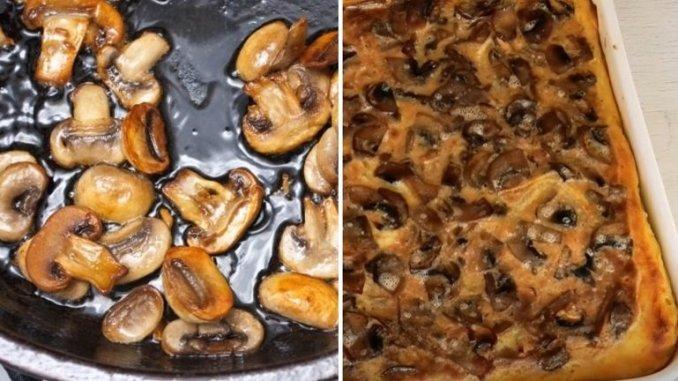 Пиріг з грибами у духовці.— дуже простий бабусин рецепт
