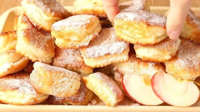 За 15 хвилин: сирні квадратики з яблуками. Готуються швидше, ніж з`їдаються!