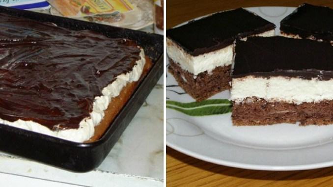 Шоколадний бісквітний торт на одному коржі: задоволення і від приготування, і від дегустації