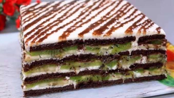 Без духовки! М'який, ніжний і неймовірно смачний торт без випічки