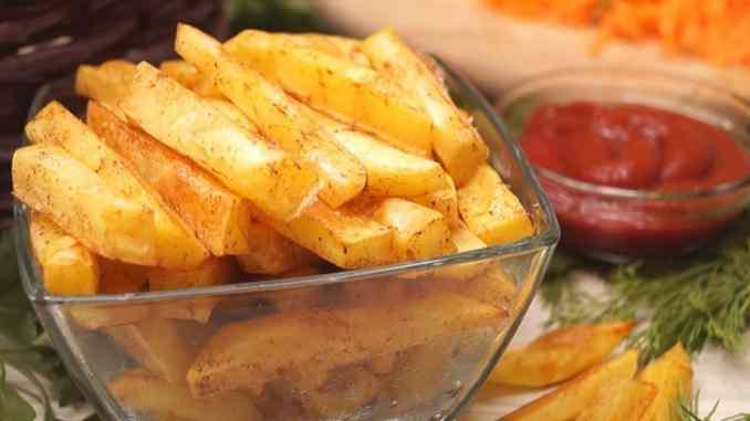 Картопля Фрі без грама олії за 10 хвилин! Таку картоплю можна подавати і дітям!