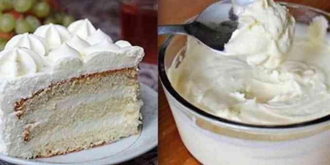 Ніжний молочний крем для тістечок і тортів